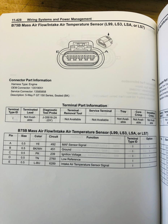 MAF wiring schematic - Camaro5 Chevy Camaro Forum / Camaro ZL1, SS and V6  Forums - Camaro5.comCamaro5.com