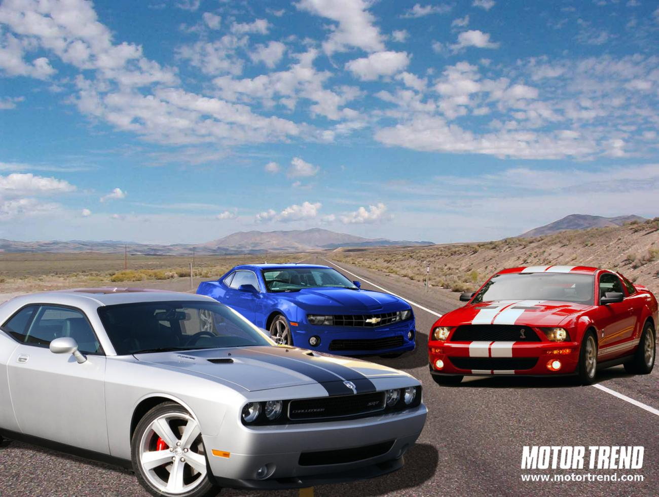 Camaro Mustang and Challenger road test shots  Camaro5 Chevy