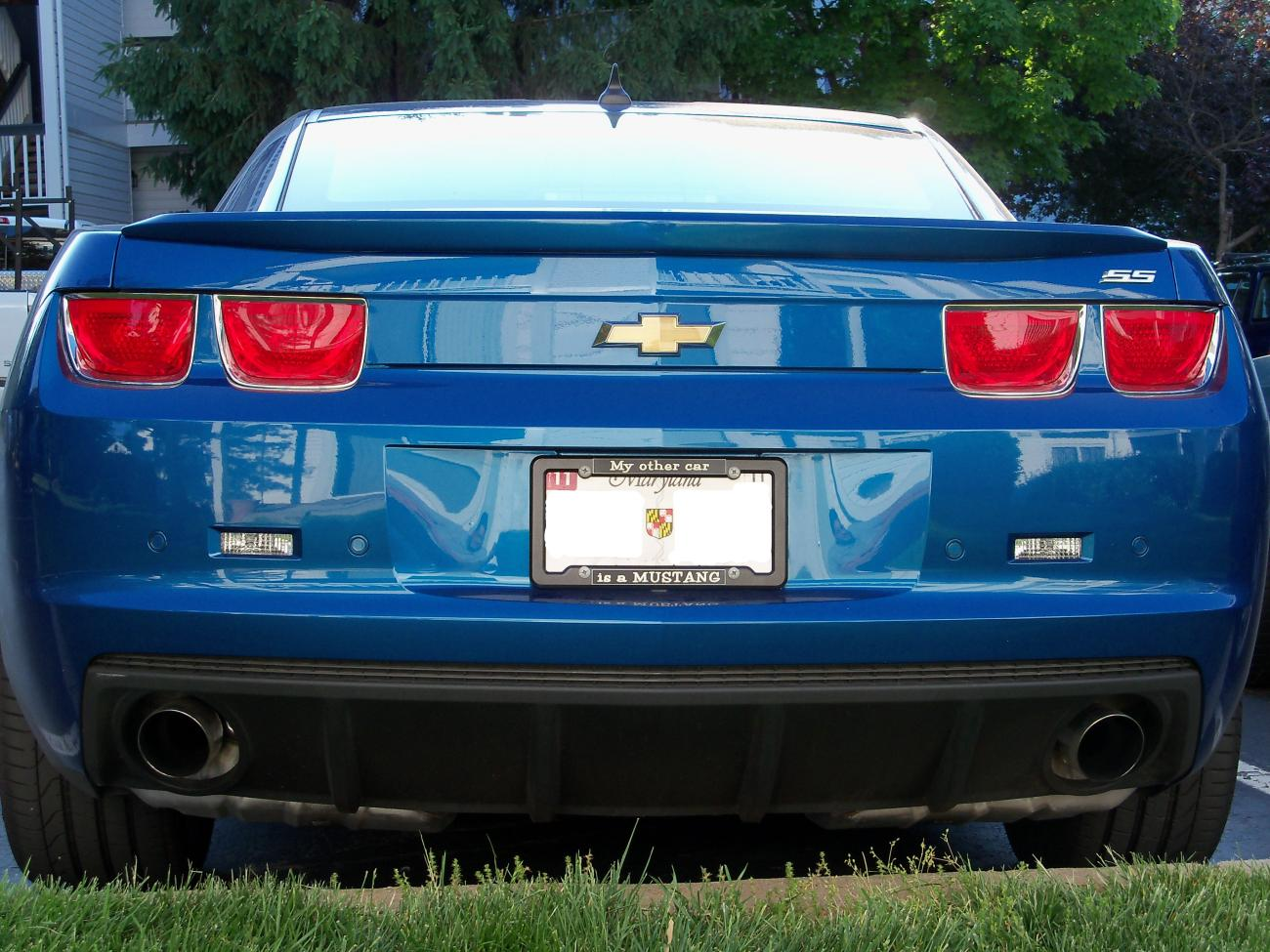 Opinions Wanted On This License Plate Frame Camaro5