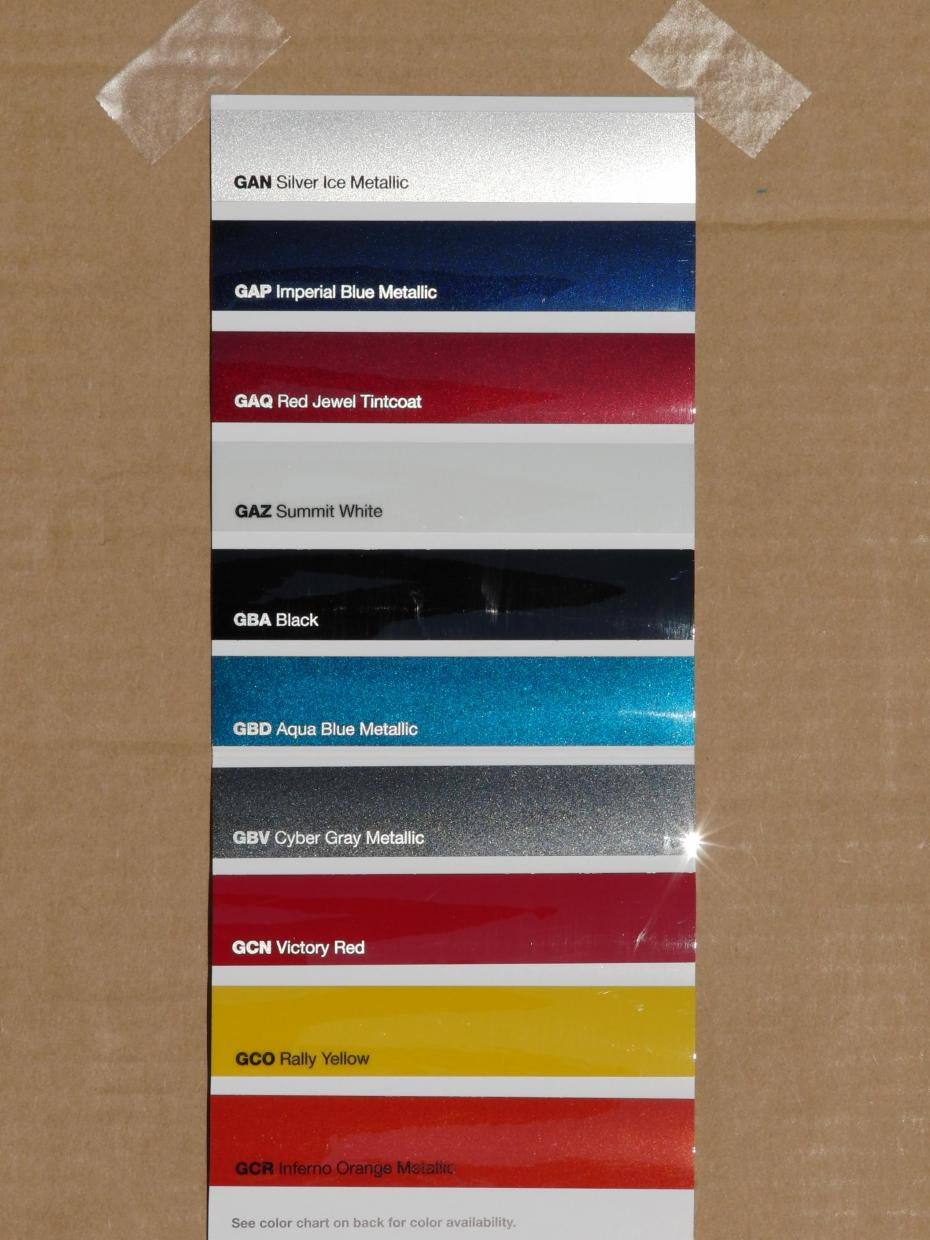 Pick Your Camaro Colors Here Paint Chip Photos Page 6