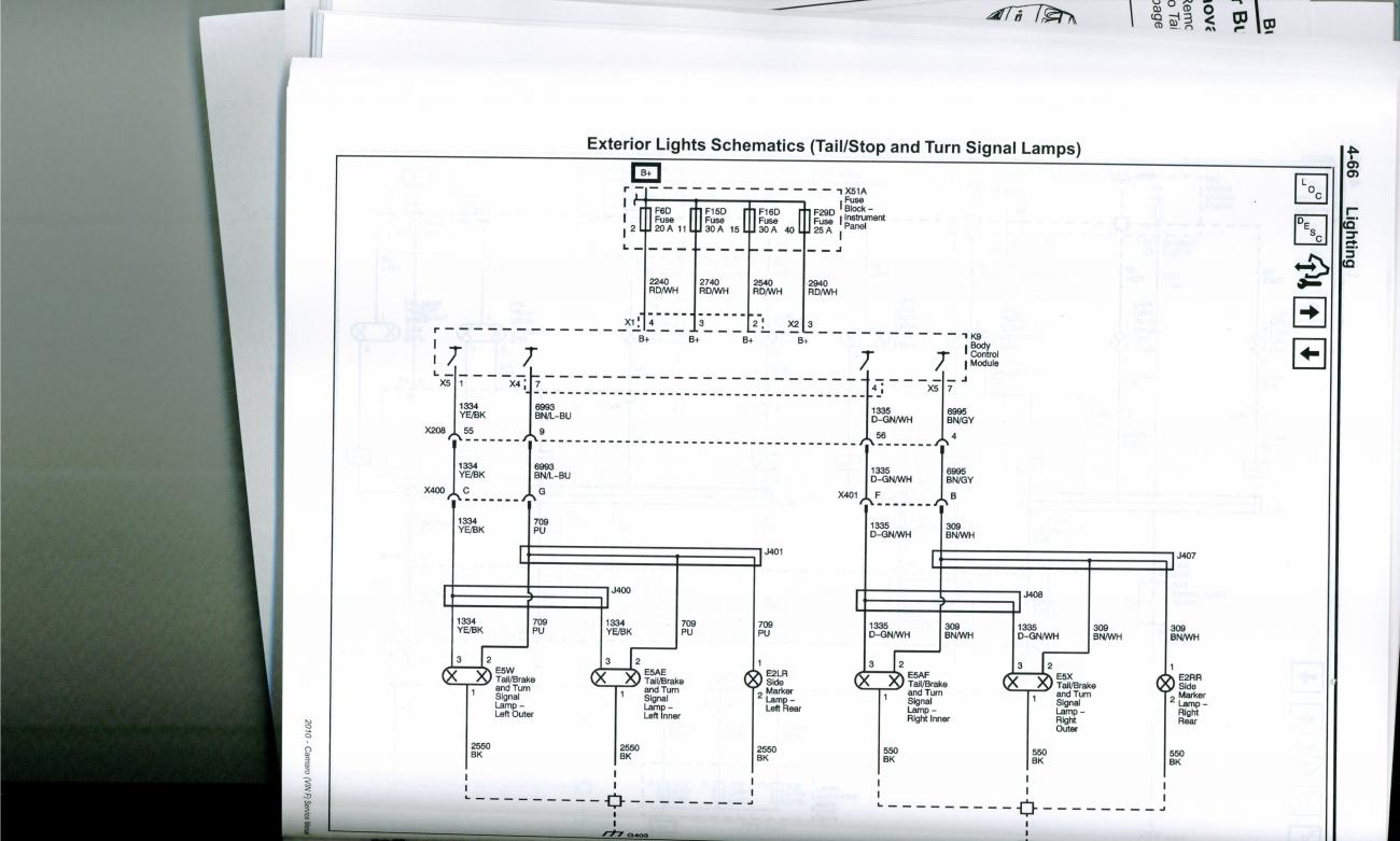 Tail Light Wiring Schematic   Camaro Zl1  Ss And V6 Forums