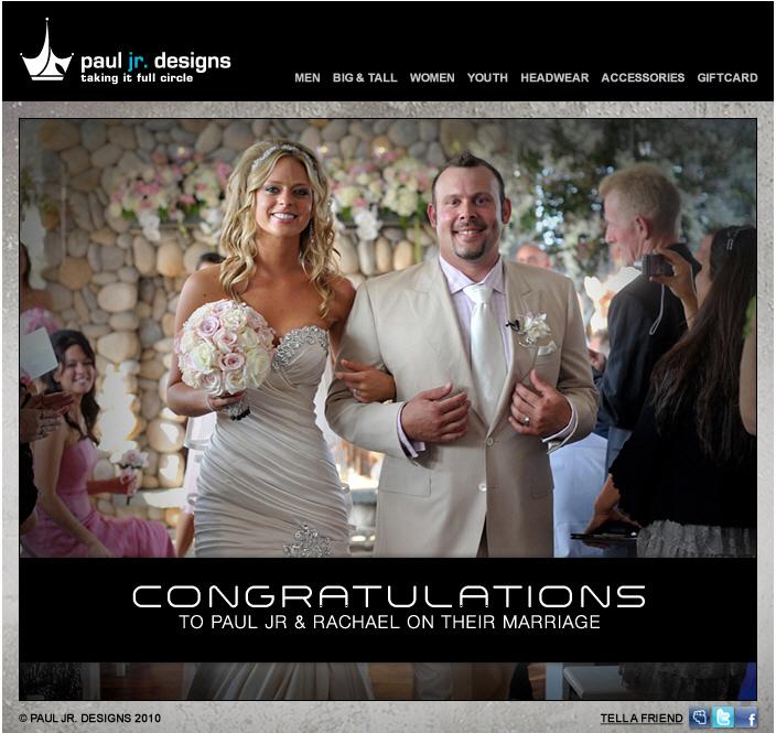 Paul Teutul Jr married Rachel: Paul.