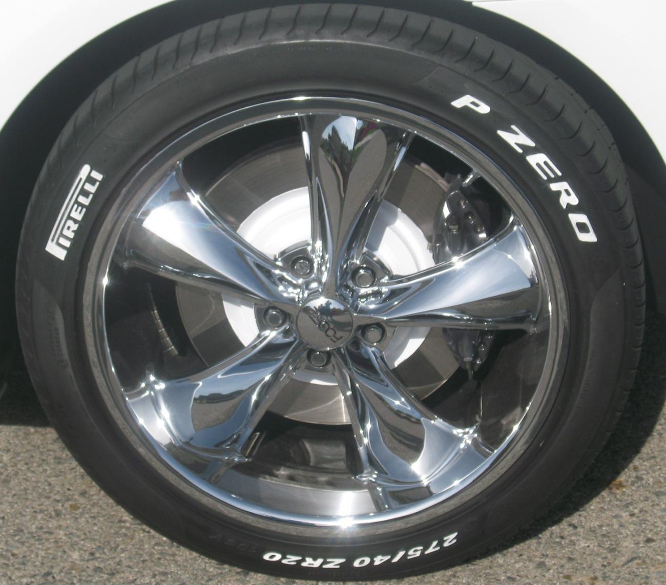 White Raised Lettered Tires