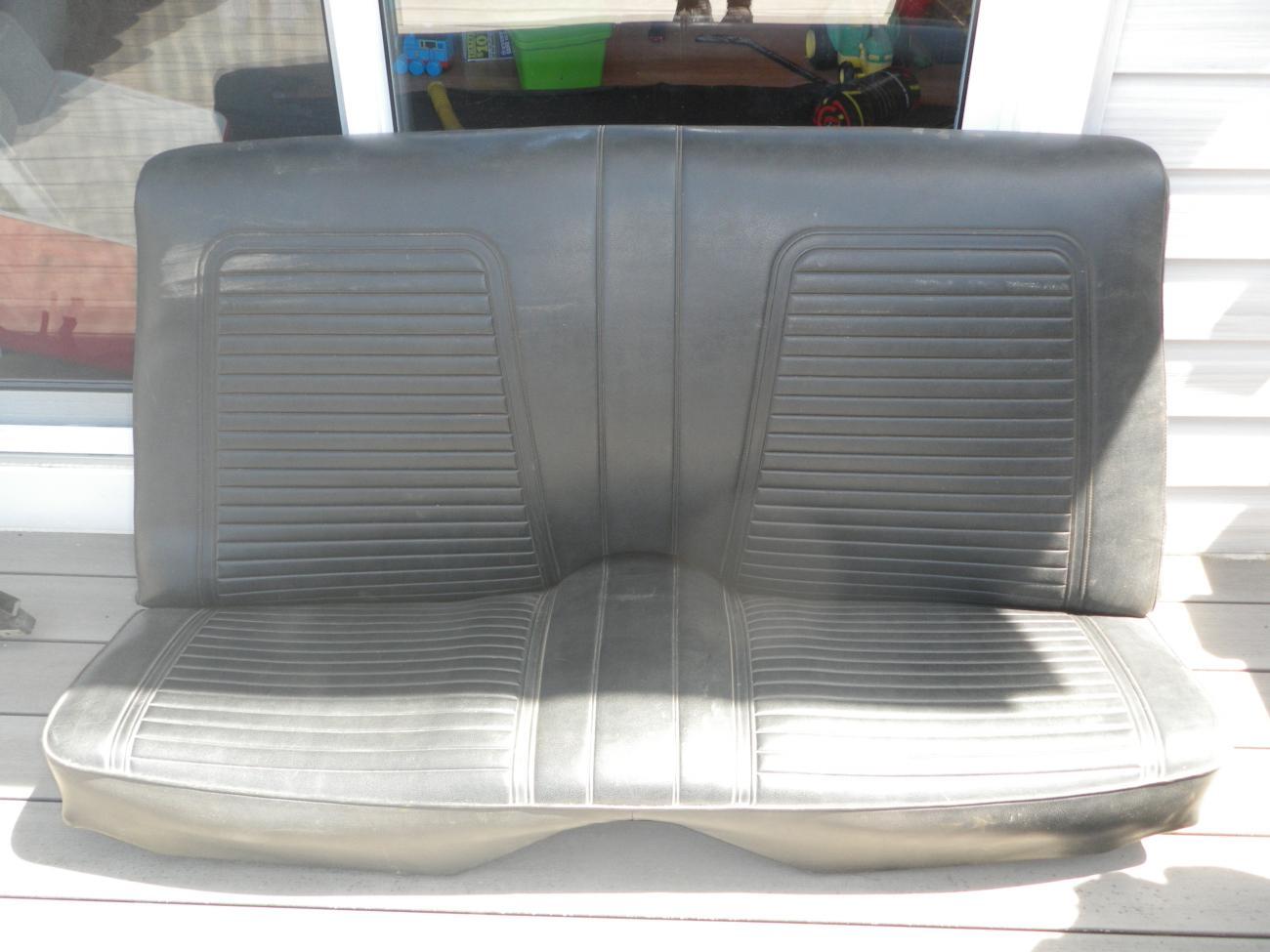 Rear Seat For 1969 Camaro Black And White Camaro5 Chevy