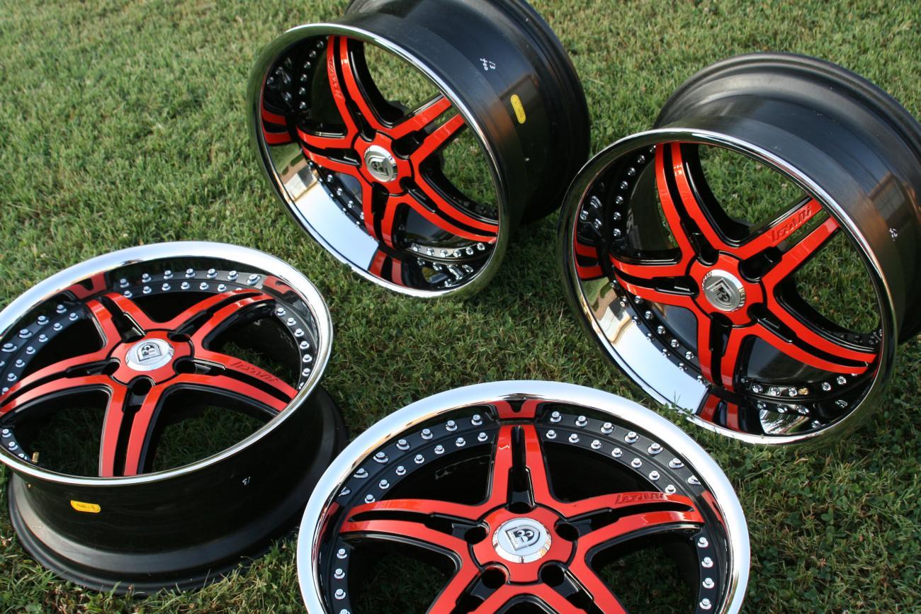Lexani Lx 15 Orange Black Rims For 10 11 Camaro Ss