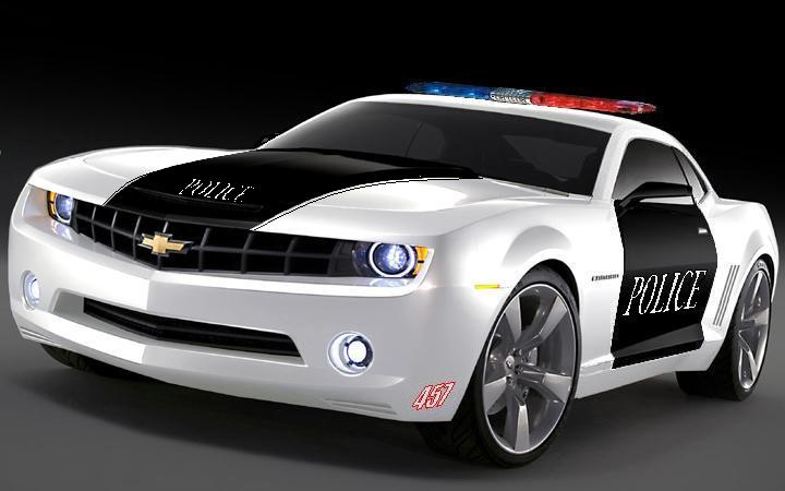 Cop Car - white with black doors