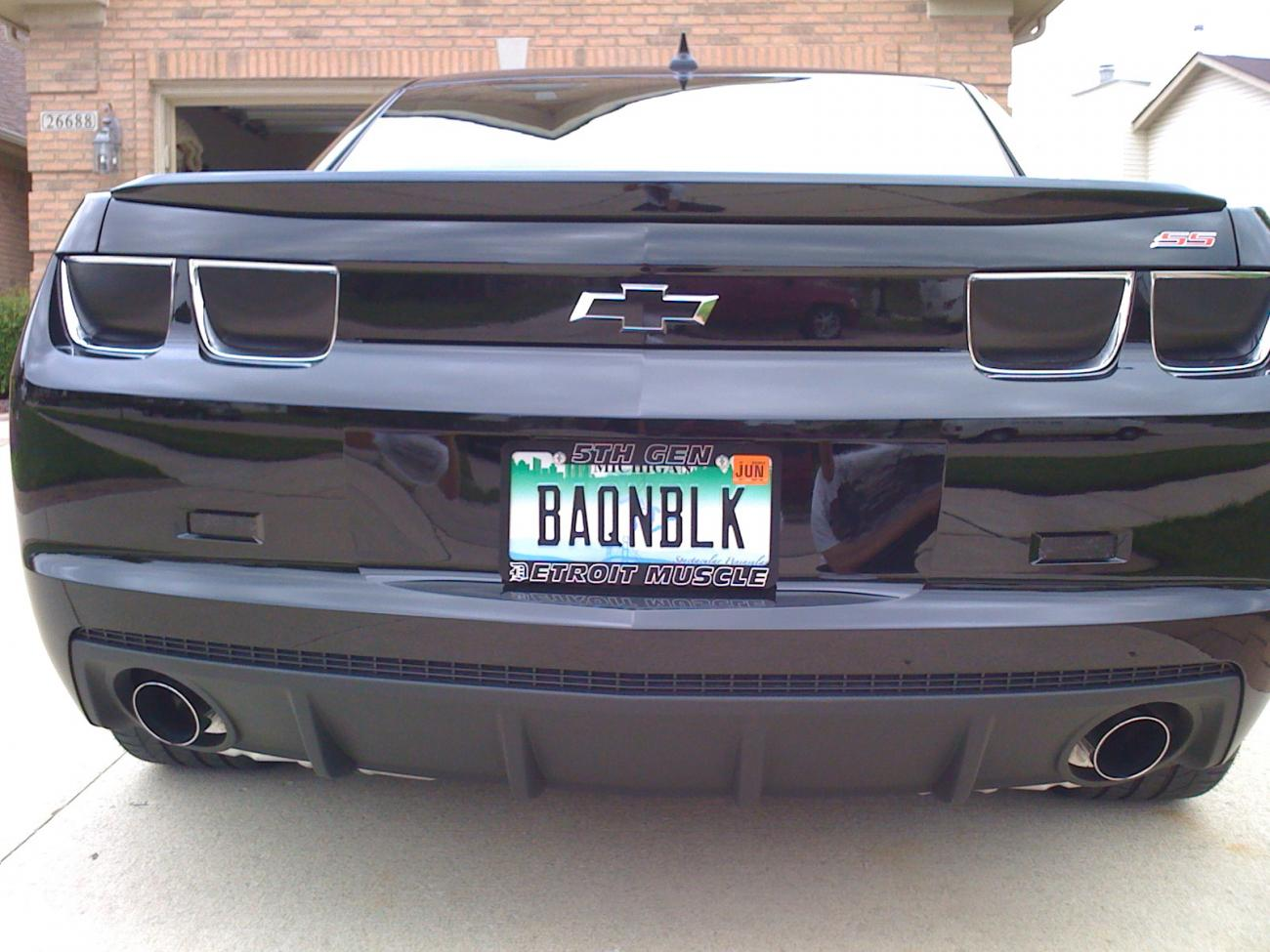 Tesla Vanity Plate Ideas Blacked Out Turn Signals And Fog Lights  Camaro5 Chevy