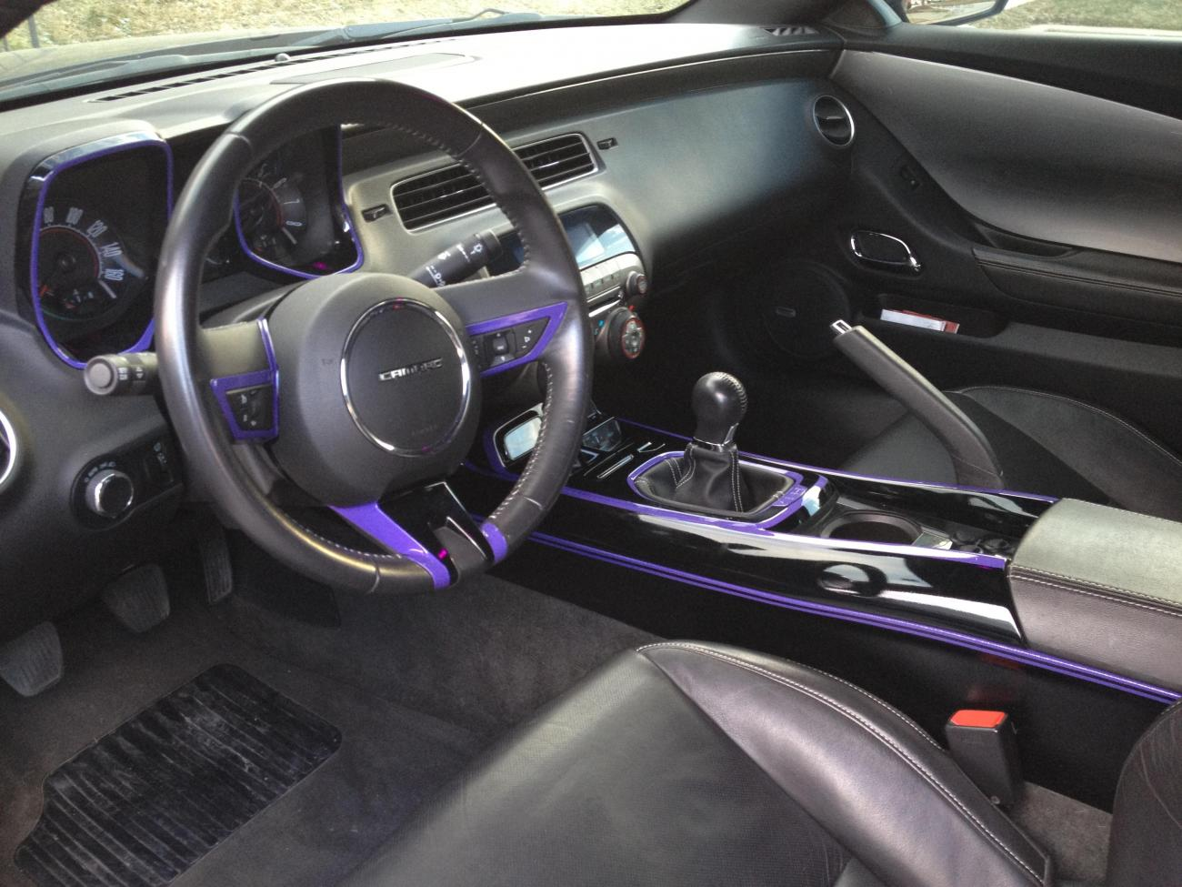 custom painted smooth center console by river city creations lighting camaro5 chevy camaro. Black Bedroom Furniture Sets. Home Design Ideas