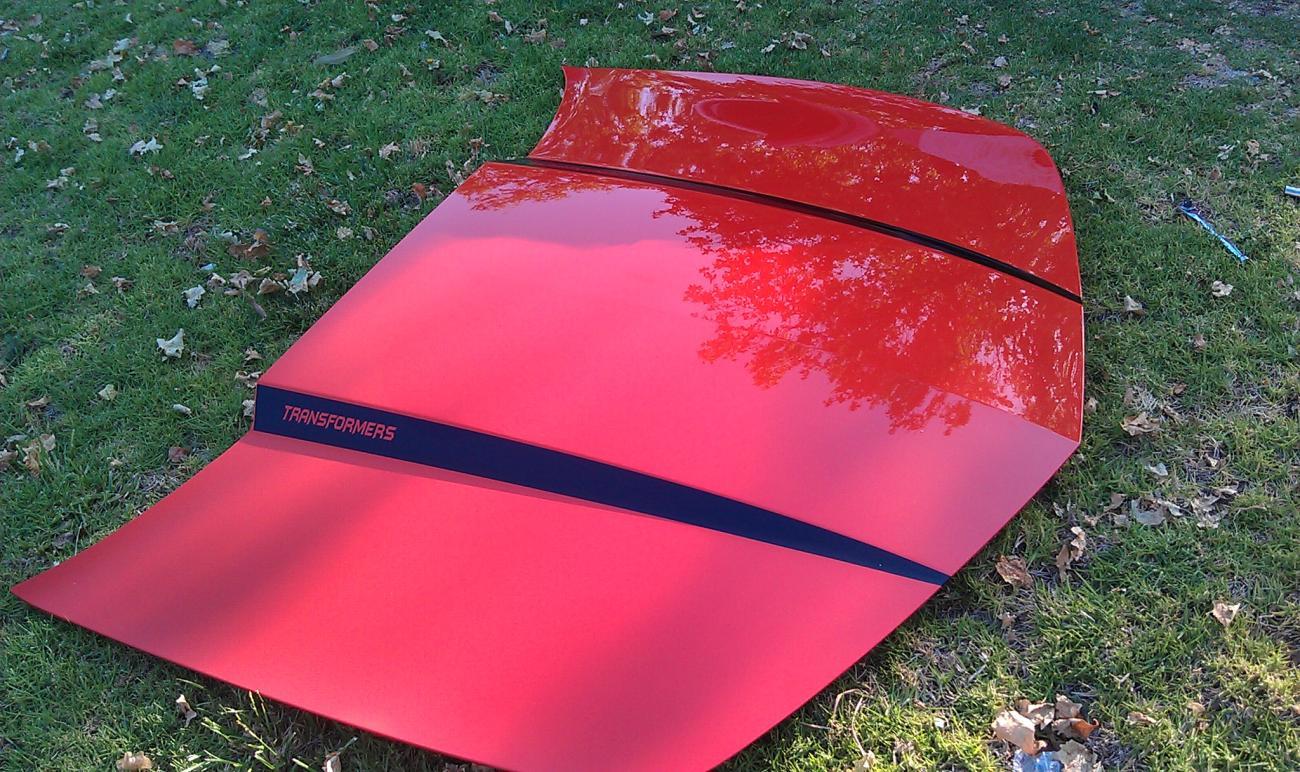 2011 Oem Inferno Orange Hood For Sale Trade Camaro5