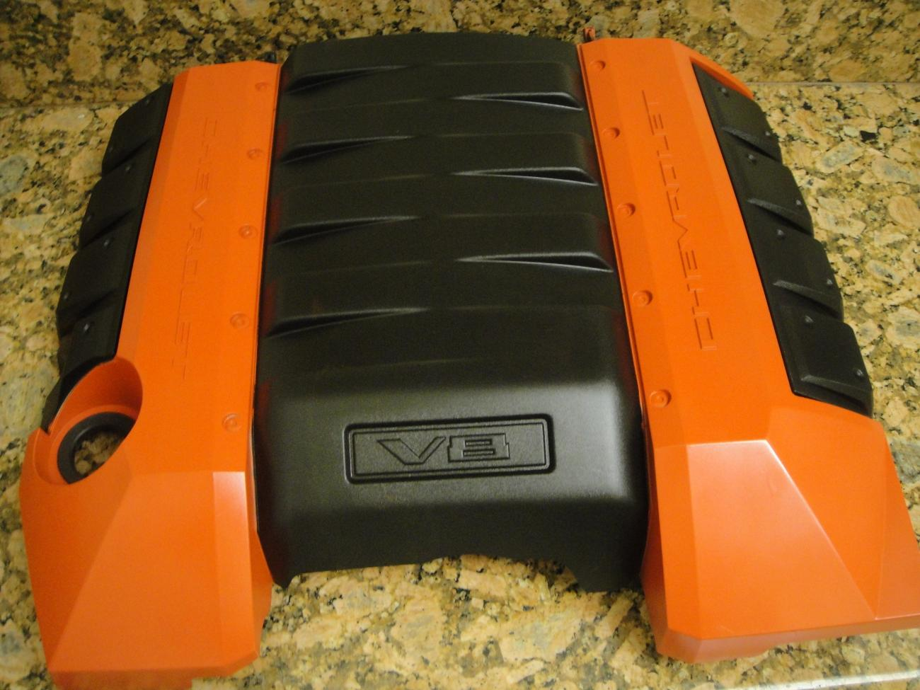 2010 camaro ss orange engine cover for sale camaro5. Black Bedroom Furniture Sets. Home Design Ideas