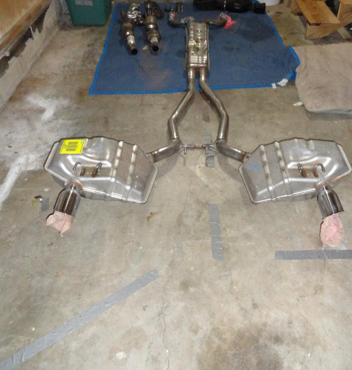 complete camaro ss stock exhaust system for sale camaro5. Black Bedroom Furniture Sets. Home Design Ideas