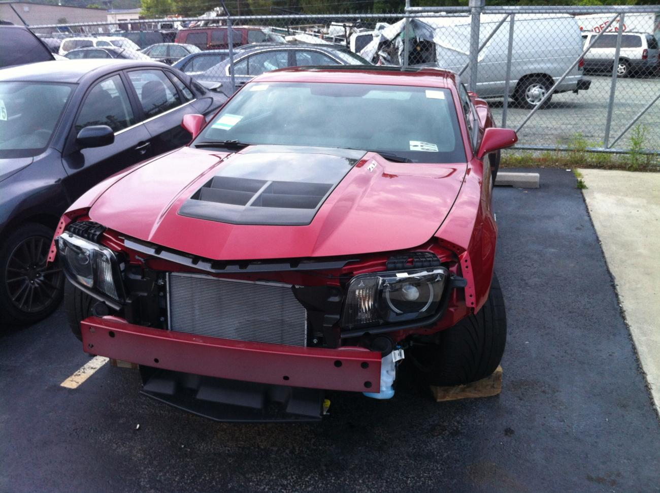 2012 ZL1 wrecked with 11 miles on the odometer at local dealership ...