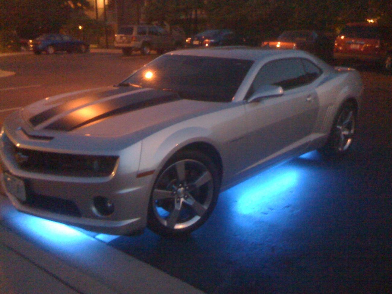 Just Added Blue Neon Underglow To My 2ss Camaro5 Chevy Camaro Forum Camaro Zl1 Ss And V6