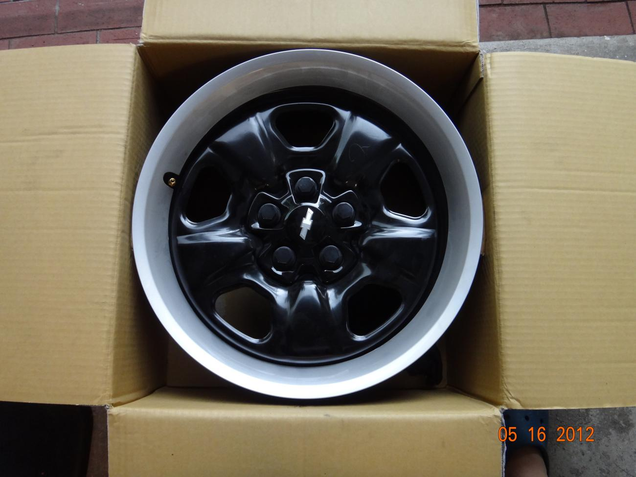 Fs 2012 Black Steel Rally Wheel Set Camaro5 Chevy