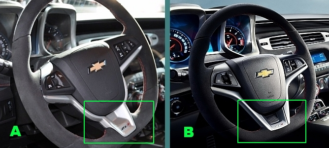 Two Different Zl1 Steering Wheels Camaro5 Chevy Camaro