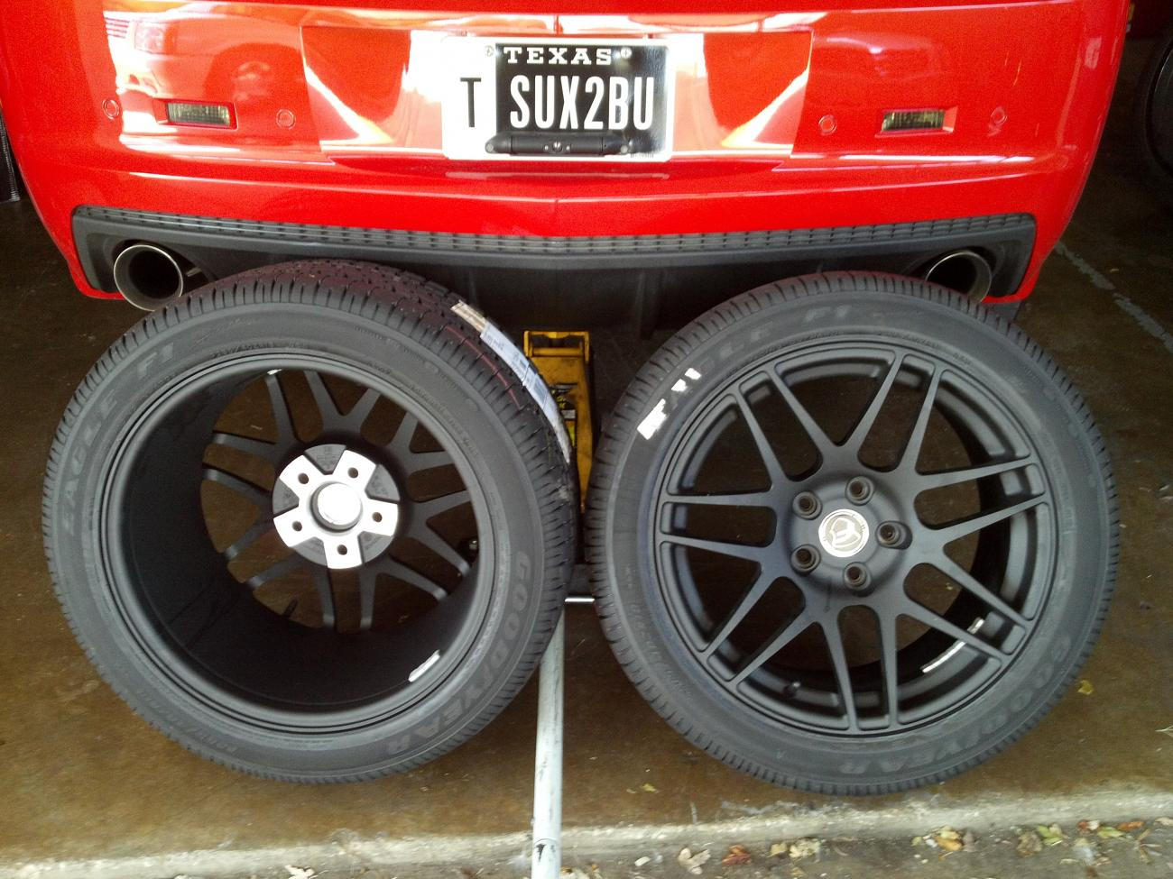 Ginger's New Shoes! Forgestar F14 18x10 Goodyear Supercar