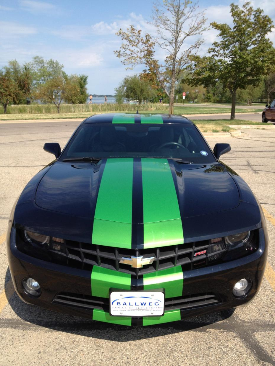 Images of racing stripes paint job