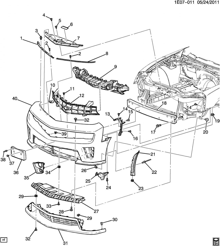 2014 toyota tundra bumper diagram