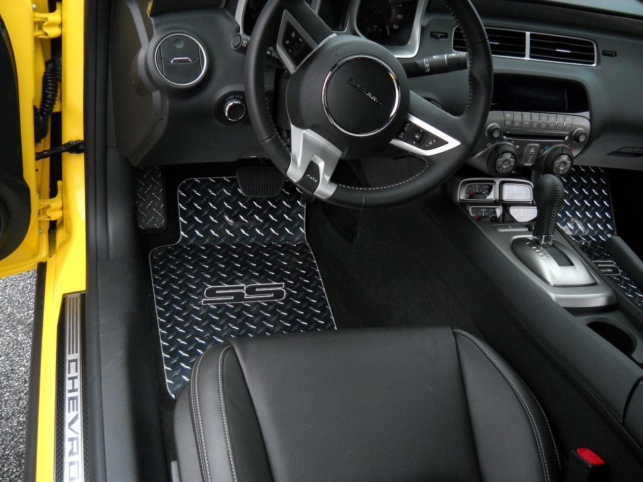 Diamond Plate Ss Floor Mat Set Camaro5 Chevy Camaro
