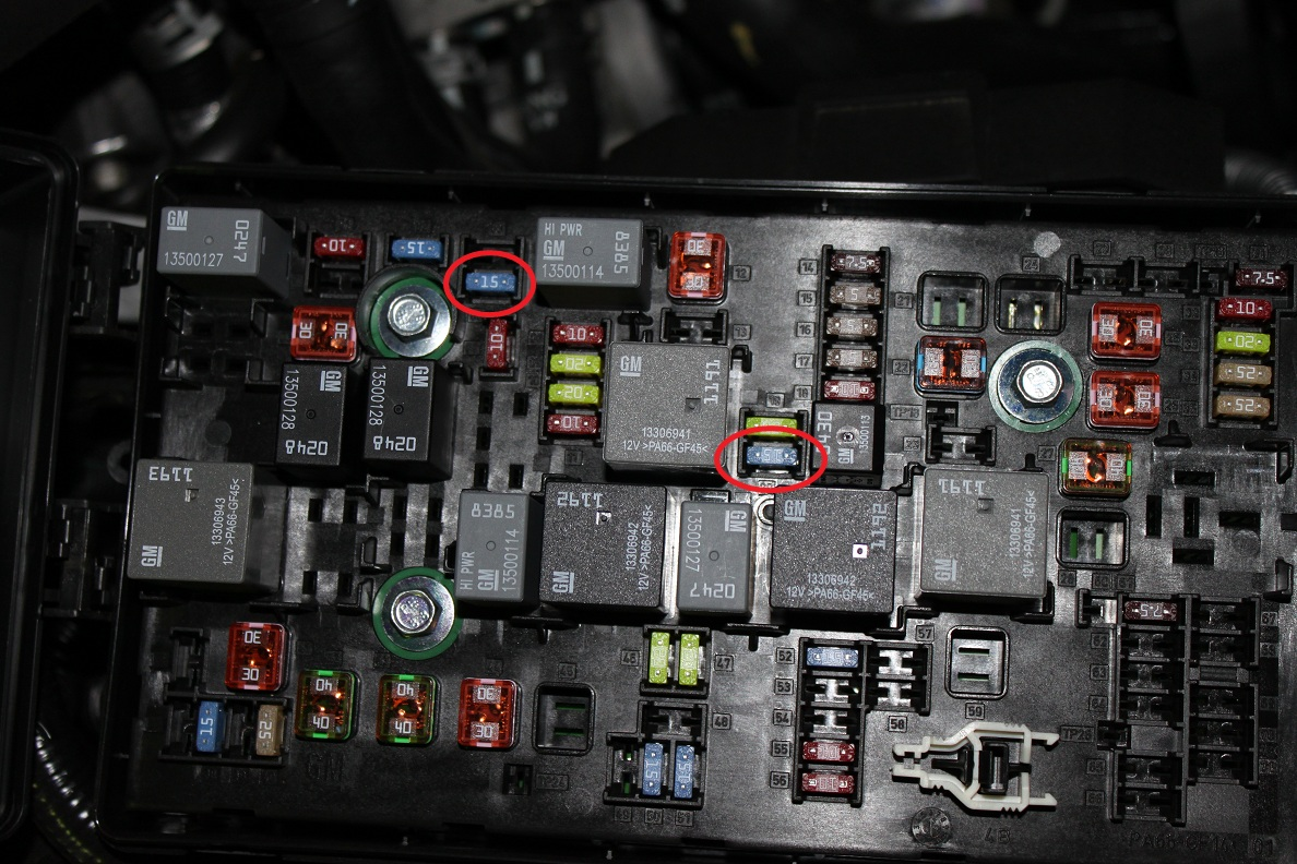 93 corvette engine fuse box