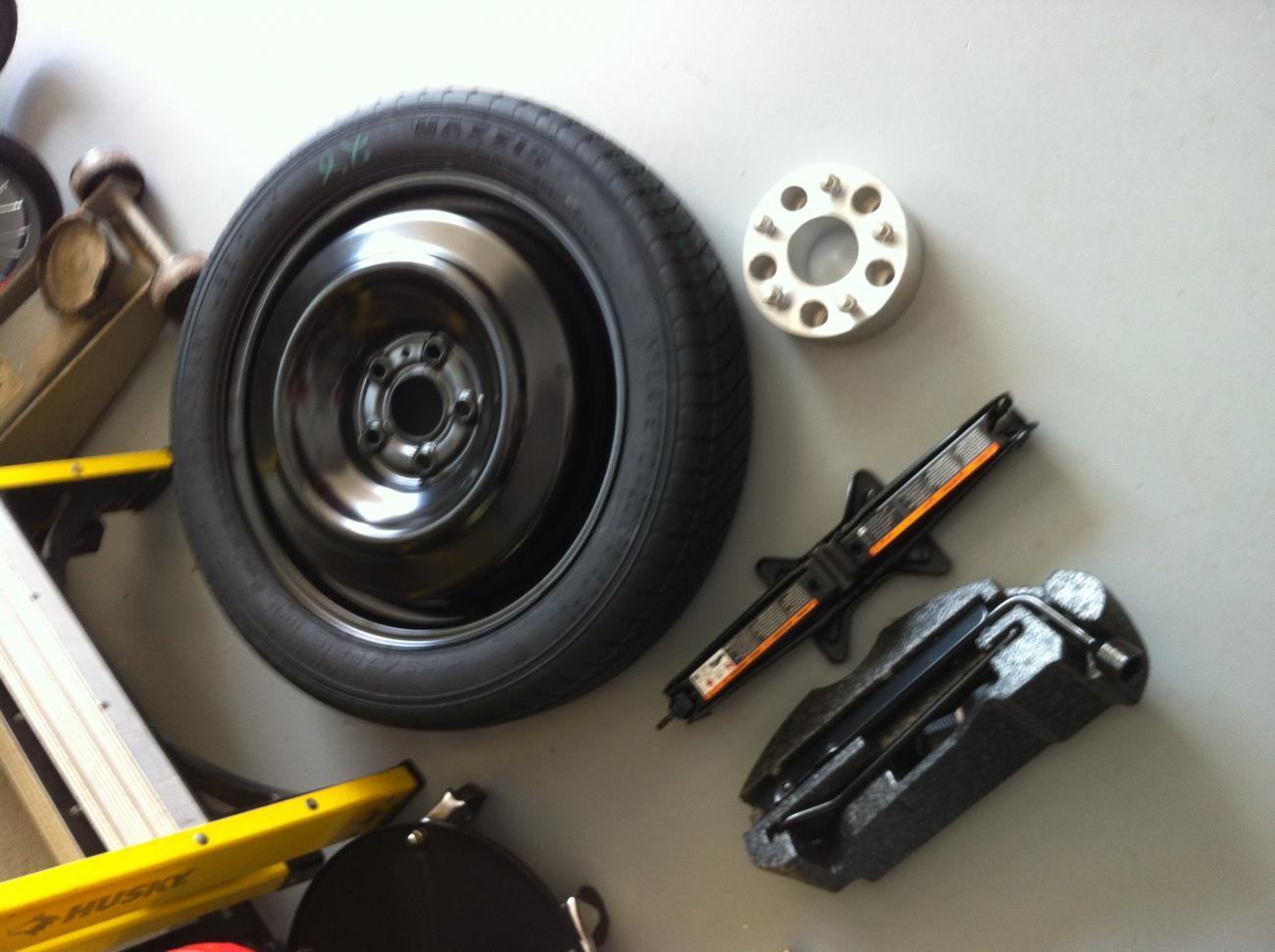 spare tire spacer jack kit for sale camaro5 chevy camaro forum camaro zl1 ss and v6. Black Bedroom Furniture Sets. Home Design Ideas