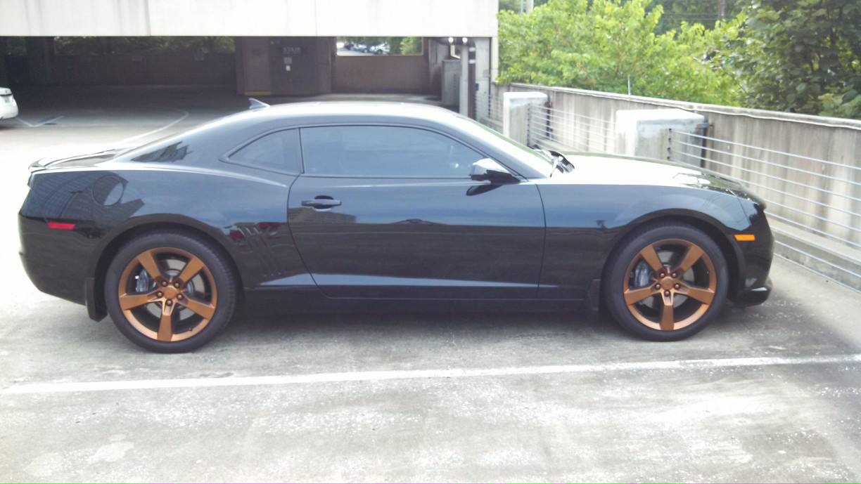 2010 Ss Rs Black With Copper Plasti Dip Wheels Camaro5