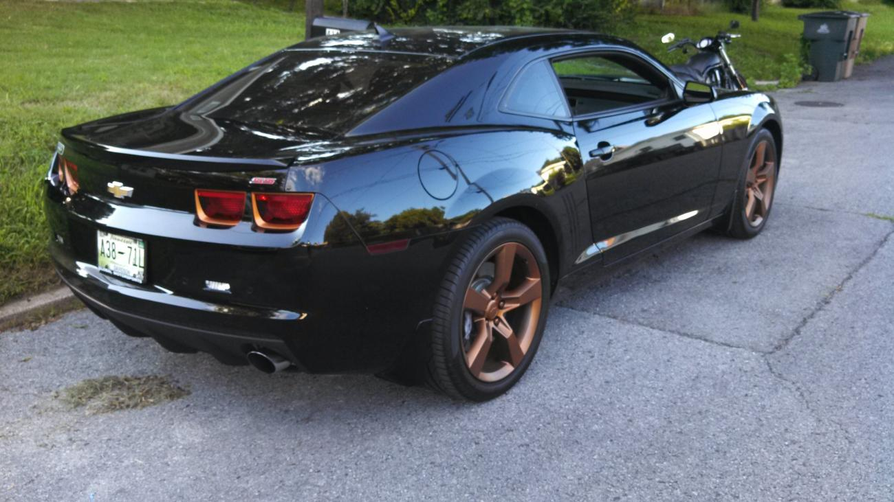 2010 Camaro Ss Rs Copper Metalizer Taillight Bezels And