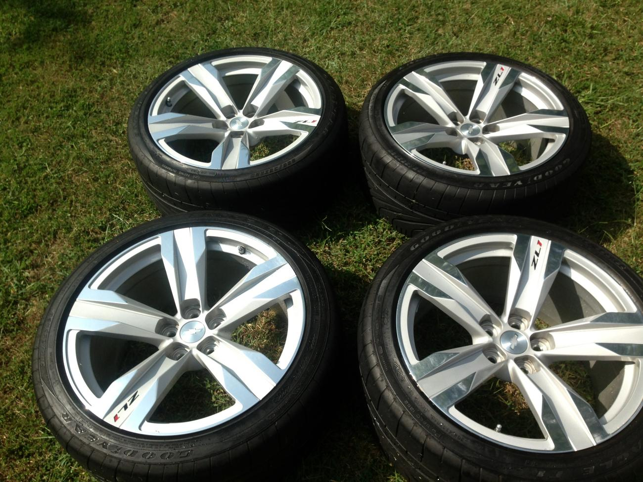 For Sale Zl1 Oem 5 Spoke Aluminum Wheels And Tires
