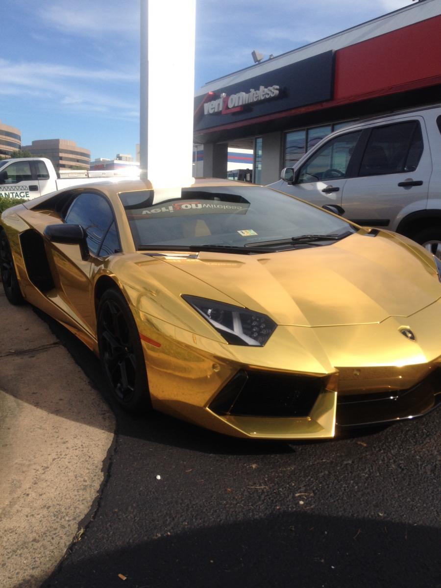 Maltalic Gold Lamborghini Aventador on