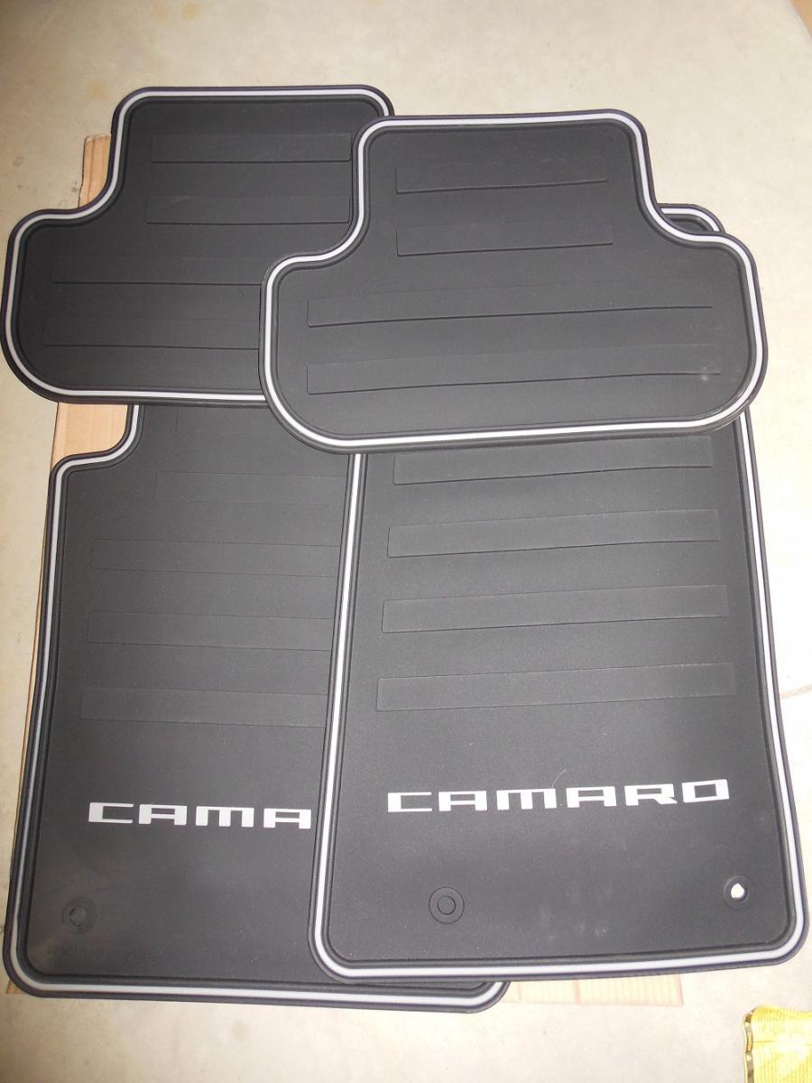 F S Camaro All Weather Rubber Gm Accessory Mats