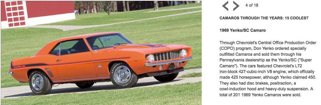15 Coolest Camaros Through The Years By Msn Auto