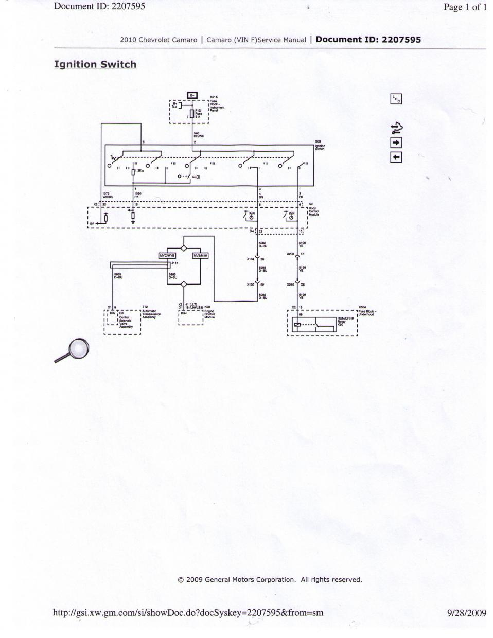 We Need Help With Electronics Wiring Diagrams Camaro5 Chevy Camaro 4 Pin Ignition Switch Diagram Forum Zl1 Ss And V6 Forums