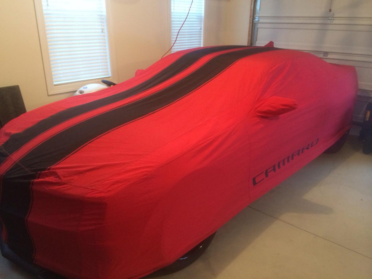 Camaro Car Cover Gm Red W Black Stripes Camaro5 Chevy