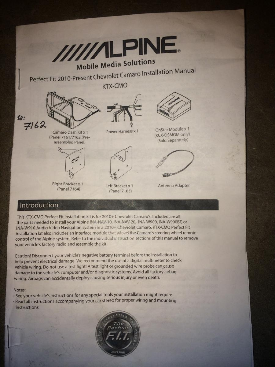 Sold Alpine Hu And Camaro Ready Audio Accesories For Sale 7163 Wiring Harness Name Img 0781 Views 341 Size 1304 Kb