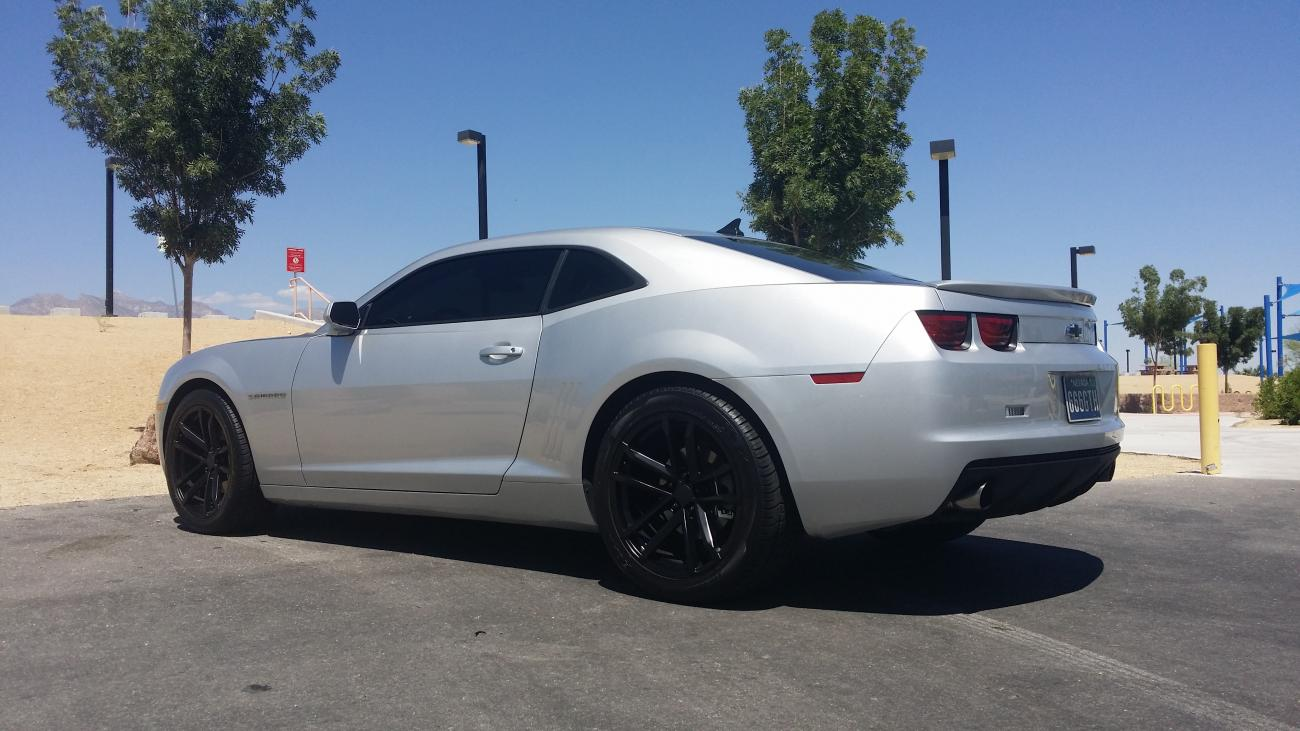 Camaro ss rear bumper diffuser with quad exhaust tips autos post