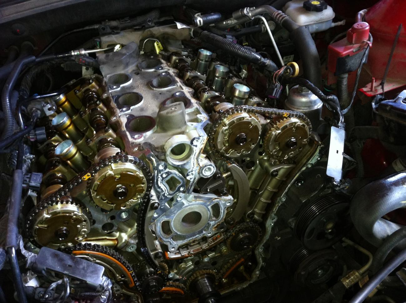 2007 gmc acadia timing chain replacement cost