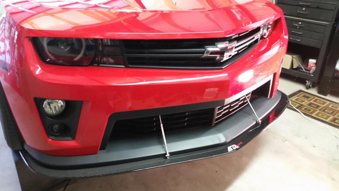 APR Carbon Fiber Front Splitter Installed - Camaro5 Chevy