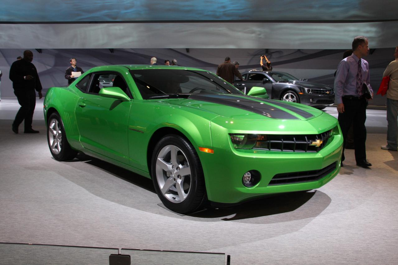 Ford Fusion Wiki >> Pictures of 1LT Synergy Green Camaro from Detroit NAIAS ...