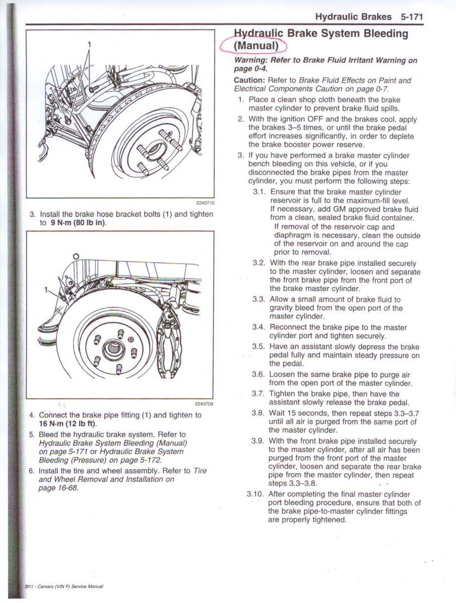 Brake bleeding sequence - Camaro5 Chevy Camaro Forum