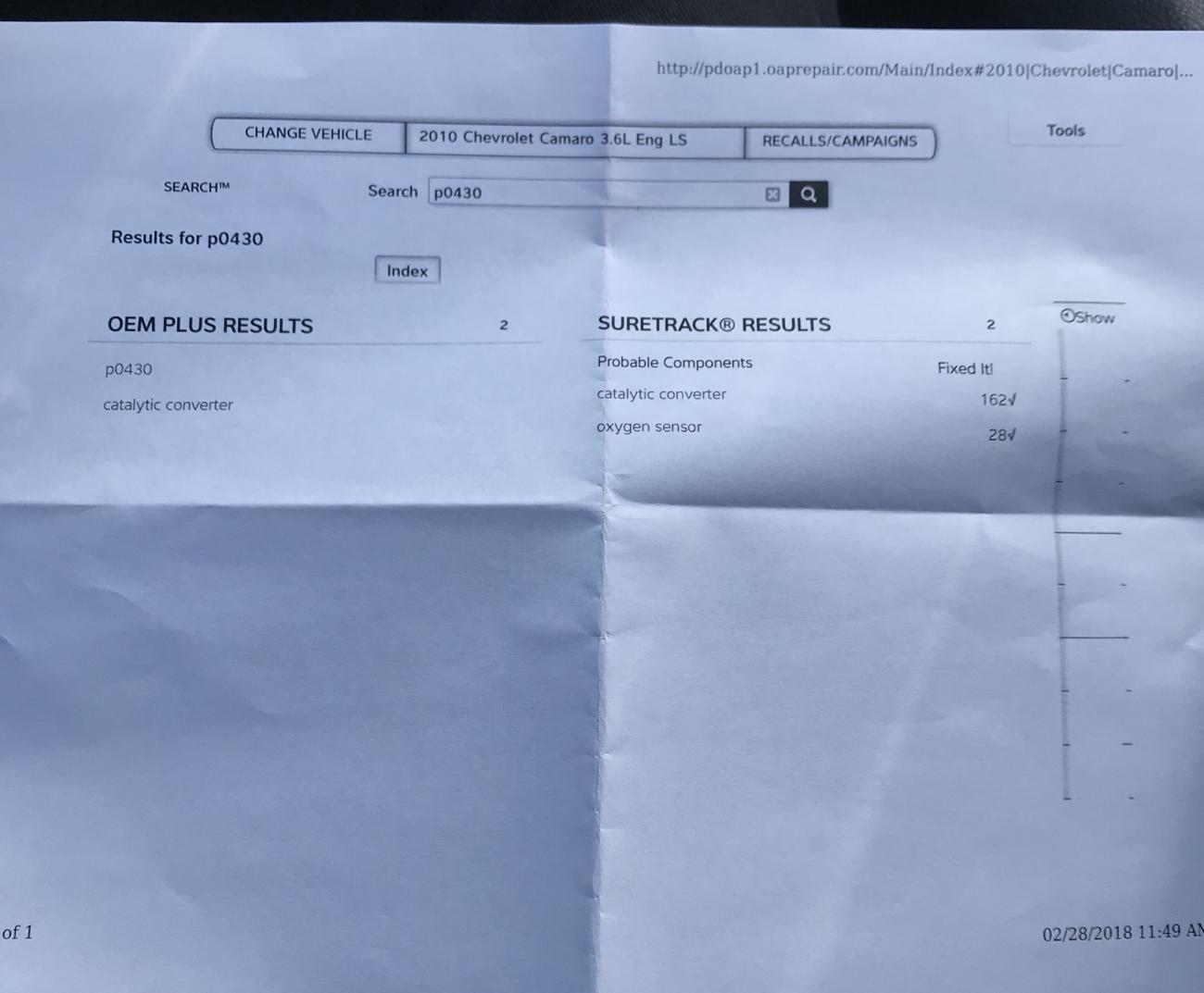 Check engine light - pulled code p0430 - Camaro5 Chevy Camaro Forum