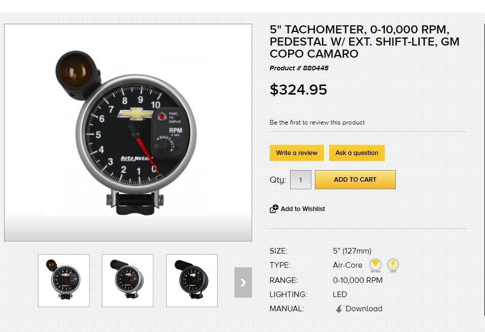 Copo Camaro Tach/Shift Light - Camaro5 Chevy Camaro Forum