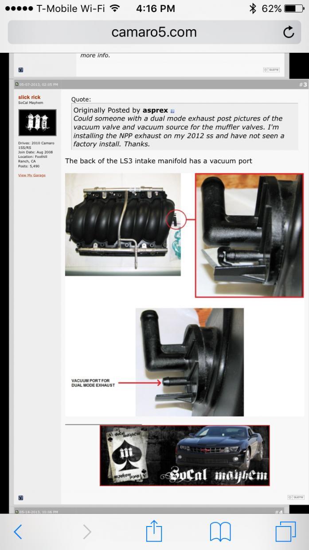 2010 LS3 intake manifold vacuum - Camaro5 Chevy Camaro ...