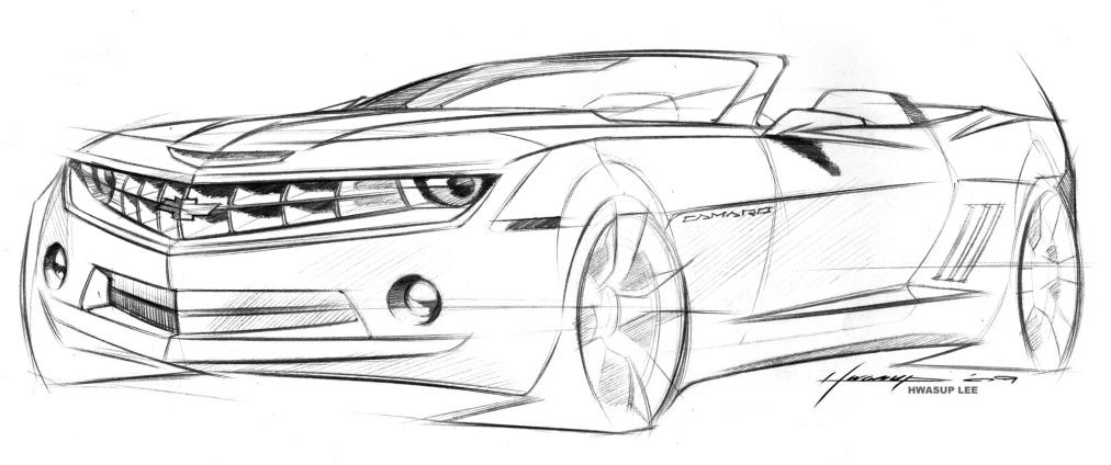 * Camaro Convertible Sketch - for you collectors ...