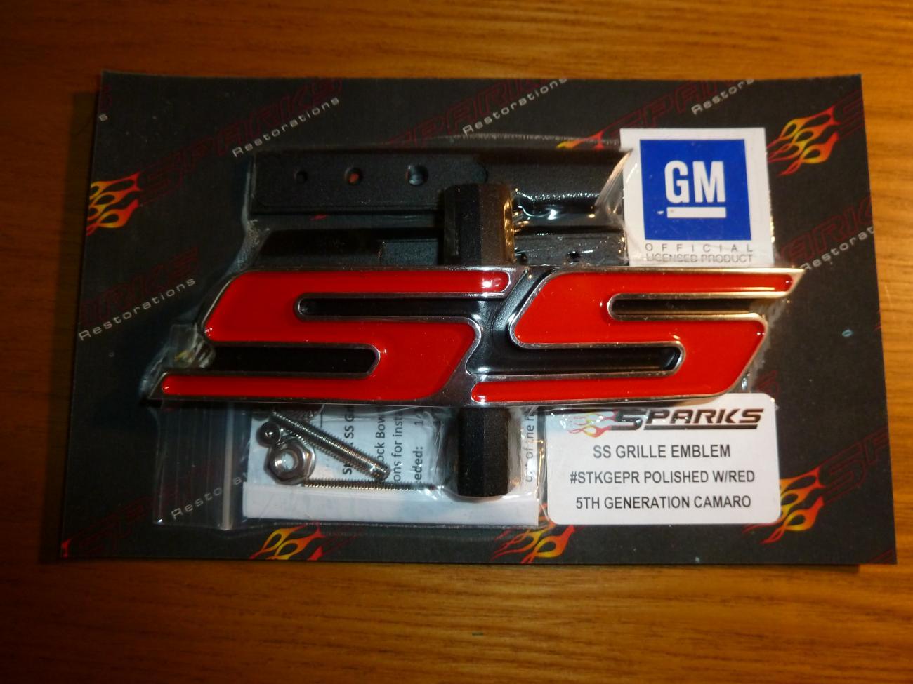 camaro ss grille emblem 5th generation 2010 and up sparks. Black Bedroom Furniture Sets. Home Design Ideas