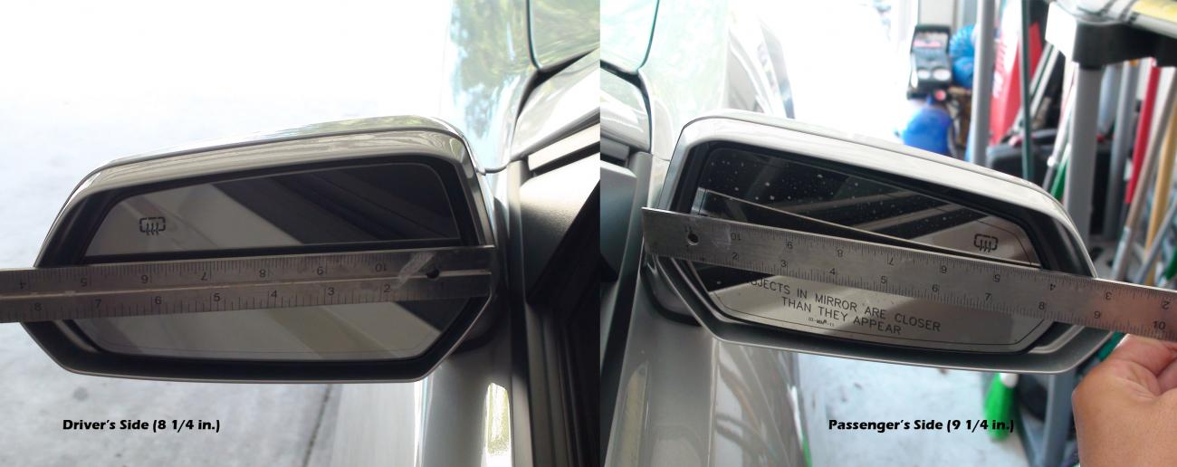 Side mirrors different sizes camaro5 chevy camaro forum for Different sized mirrors