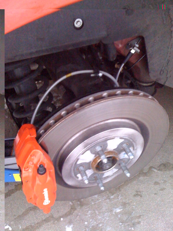 Brake Lining Thickness Minimum : Racing brake pc rotors installed camaro chevy