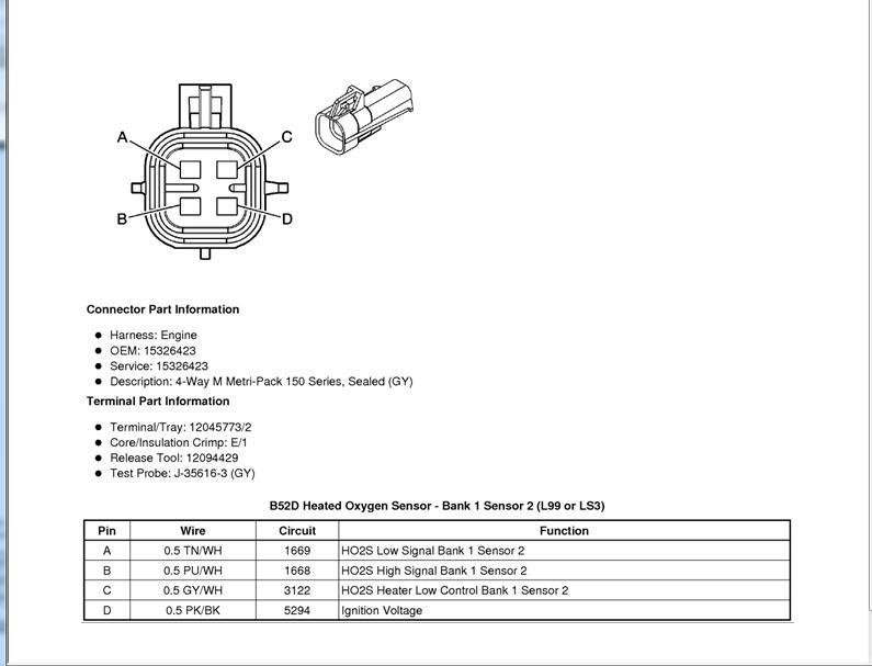 wiring       diagram    O2 sensor bank 1 sensor 1       Camaro5 Chevy    Camaro    Forum     Camaro    ZL1     SS    and