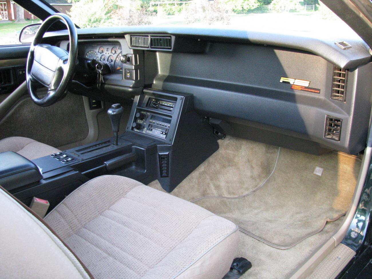 1992 camaro rs 25th anniversary edition camaro5 chevy for Interior 86 camaro