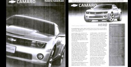 2009 2010 chevy camaro reference guide