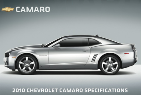 2010 Chevy Camaro Official Specs Released  Camaro ZL1 Z28 SS LT